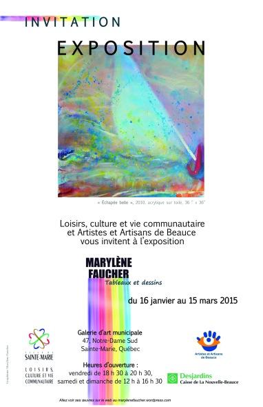 Exposition du 16 janvier au 15 mars 2015 à la Galerie municipale de Sainte-Marie